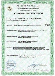 Сертификат соответствия для колец графитовых и наборов уплотнительных сальниковых